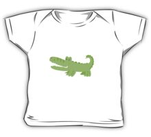 Cute Green Alligator Baby Tee