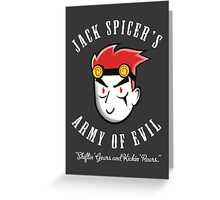 Jack Spicer's Army of Evil Greeting Card