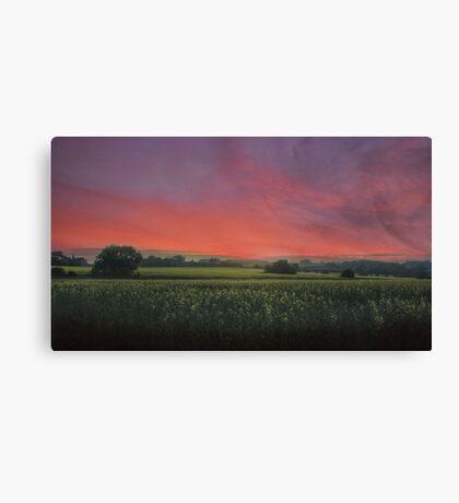 Sunset HDR Landscape Canvas Print
