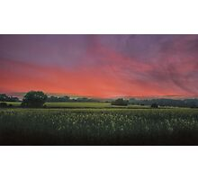 Sunset HDR Landscape Photographic Print