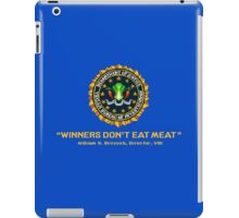 Winners Don't Eat Meat - Scott Pilgrim inspired Vegan Police Logo (transparent version) iPad Case/Skin