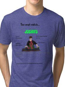 JoshXD: YouTube Sport Stacker Tri-blend T-Shirt