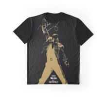 Rock music golden poster on black background Graphic T-Shirt