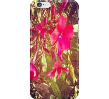 Pink Garden Flowers iPhone Case/Skin