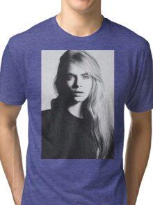 cara black and white Tri-blend T-Shirt