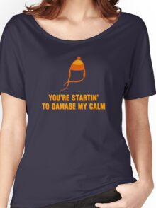 Jayne Hat Shirt - Damage My Calm Women's Relaxed Fit T-Shirt