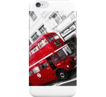 Red London City Bus iPhone Case/Skin