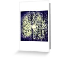Bitter Blue Ice Sky Greeting Card