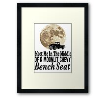 Meet Me In The Middle Of A Moonlit Chevy Bench Seat Framed Print