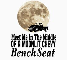 Meet Me In The Middle Of A Moonlit Chevy Bench Seat Womens Fitted T-Shirt