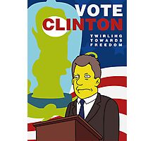 Vote Clinton Photographic Print