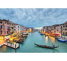 Clouds over the Grand Canal, Venice Photographic Print