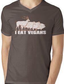 I Eat Vegans Mens V-Neck T-Shirt