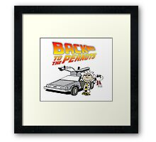 Back To The Future Peanuts Framed Print