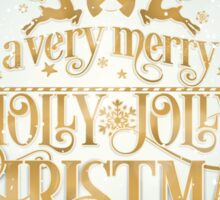 Holly Jolly Christmas Sticker
