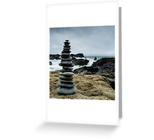 Pebble Cairn Greeting Card