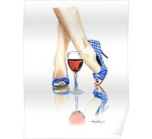 Wine + Heels Poster