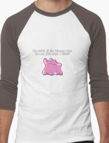 Why Catch All The Pokemon When You Can Just Catch A Ditto? Men's Baseball ¾ T-Shirt