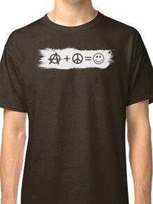 Ⓐ+☮=☺ Classic T-Shirt