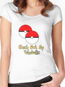 Check Out My Pokeballs Pokemon Tee Women's Fitted Scoop T-Shirt