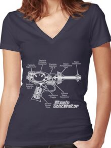 Atomic Obliterator Women's Fitted V-Neck T-Shirt