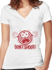 Don't Shoot Women's Fitted V-Neck T-Shirt