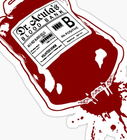 Dr. Acula's Blood Bank Sticker