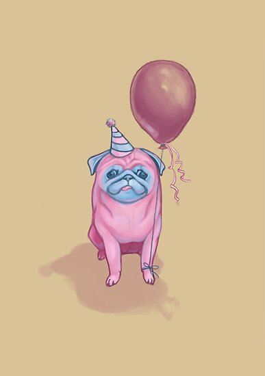 Party pug by Dylanunicorn