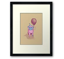Party pug Framed Print
