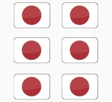 Flags of the World - Japan x6 by CongressTart