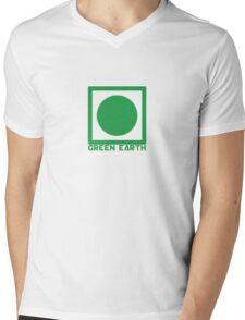 Green Earth Mens V-Neck T-Shirt