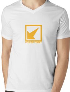 Yellow Comet Mens V-Neck T-Shirt