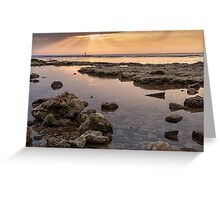 Sunset In Acre Greeting Card