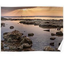 Sunset In Acre Poster