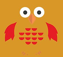 Yellow & Red Owl by Adamzworld