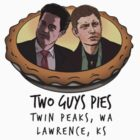Two Guys Pies (Coop and Dean version - pocket logo) by BrightPig