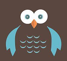 Brown & Blue Owl by Adamzworld