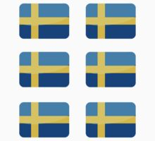 Flags of the World - Sweden x6 by CongressTart
