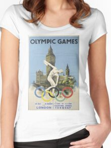 Vintage poster - London Olympics Women's Fitted Scoop T-Shirt