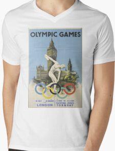 Vintage poster - London Olympics Mens V-Neck T-Shirt