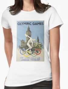 Vintage poster - London Olympics Womens Fitted T-Shirt