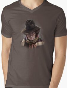 Fourth Doctor - Tom Baker Mens V-Neck T-Shirt
