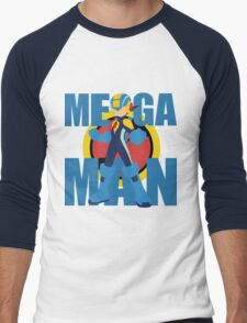 Mega Emblem Minimal Men's Baseball ¾ T-Shirt