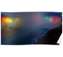 Niagara Falls as a Rainbow Poster