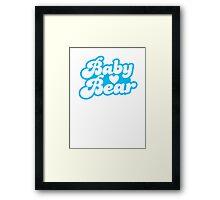 Baby Bear super cute baby design Framed Print