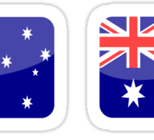 Flags of the World - Australia x6 Sticker