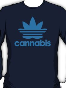 Cannabis Adidas Spoof T-Shirt