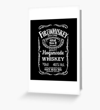 Hogsmeade's Old No.7 Brand Firewhiskey Greeting Card