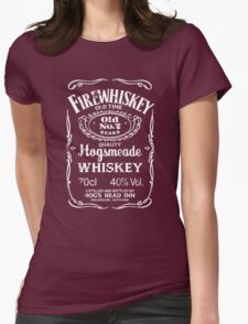 Hogsmeade's Old No.7 Brand Firewhiskey Womens Fitted T-Shirt