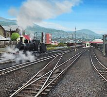 Loco CC27 At Hobart Rail-yard by Michael Bessell